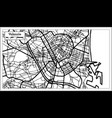 valencia spain city map in retro style outline map vector image vector image