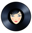 Vinyl woman vector image