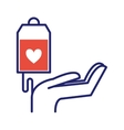 Volunteer blood donation icon
