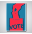 vote election cover design vector image vector image