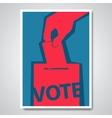 vote election cover design vector image