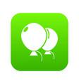wedding ballons icon green vector image