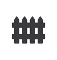 wooden fence icon vector image vector image
