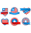 Made in the USA labels vector image