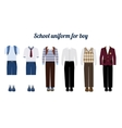 School uniform for boys flat vector image