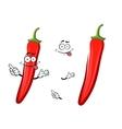 Cartoon red chilli pepper vegetable vector image