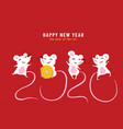2020 happy chinese new year year rat vector image vector image