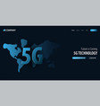 5g new wireless internet wifi connection website vector image