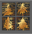 a set of christmas greeting card templates in vector image