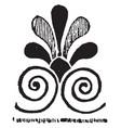 anthemion motive is a greek pattern vintage vector image vector image