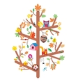 Autumn tree kids design flat vector image