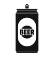 beer can icon simple style vector image vector image