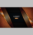 black background with wood texture and golden vector image vector image