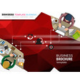 business background with office workers vector image