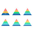 business infographics triangle pyramid with 3 4 vector image vector image