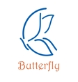 Butterfly icon or logo emblem vector image