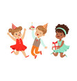 children celebrate a birthday vector image