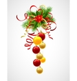 christmas decoration holly with berries vector image