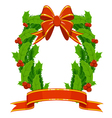 Christmas holly and fir garland vector | Price: 1 Credit (USD $1)