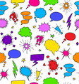 Comics seamless background from speech bubbles vector image vector image