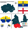 County Durham North East England vector image vector image