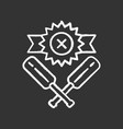cricket defeat chalk icon total game result vector image vector image