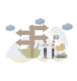 decision making concept with charactercreative vector image vector image