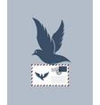dove with envelope vector image