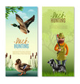 duck hunting vertical banners vector image vector image
