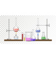 equipment for chemical lab vector image vector image