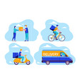 fast online delivery package service 02 vector image vector image