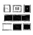 film strip template pictures isolate vector image