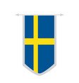 flag of sweden on a banner vector image vector image
