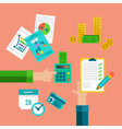 Flat concepts for taxes finance bookkeeping and vector image