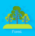flat eco nature tree background vector image