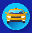 flat taxi car icon design vector image