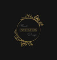 floral luxury invitation golden frame luxury vector image vector image