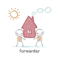 forwarder carries a house vector image vector image