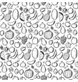 fruits doodle hand draw seamless pattern vector image