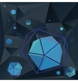 Geometric background 3D vector image