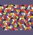 geometric grid seamless pattern vector image vector image