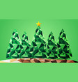 geometrical abstract christmas trees vector image vector image
