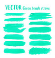 green brush stroke isolated on white background vector image vector image