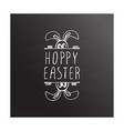 hand drawn typographic easter element on vector image