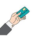 hand with card vector image vector image