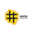 hashtag design logo template elements vector image vector image