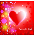 heart shiny holiday background vector image