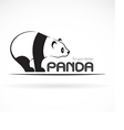 image of an panda design vector image vector image
