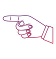 index finger pointing hand gesture icon image vector image