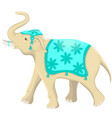 indian elephant festival isolated vector image